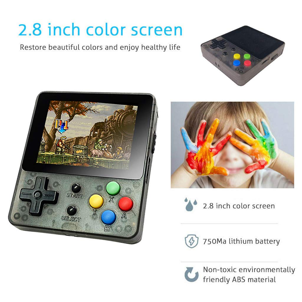 Solovley Handheld Game Console Kids Adults, LDK Game Screen by 2 6 Thumbs  Mini Palm Pilot Nostalgia Console Children Retro Console Mini Family TV