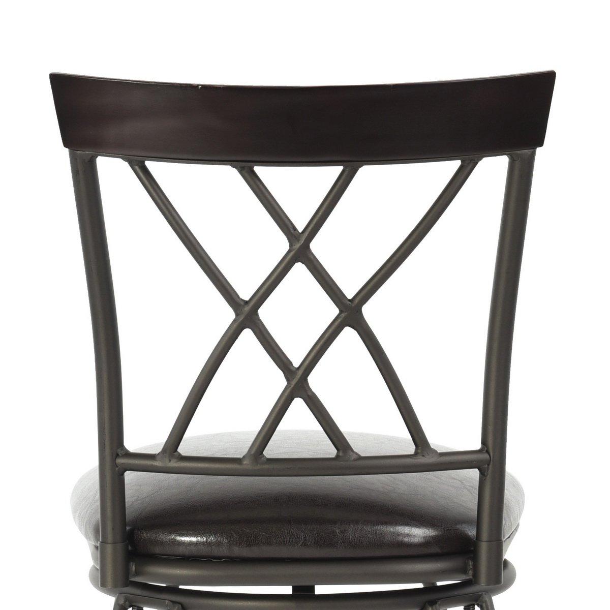 FurnitureR 24'' Circles-Back Swivel Bar stool Counter Height Bar Chair by FurnitureR (Image #7)