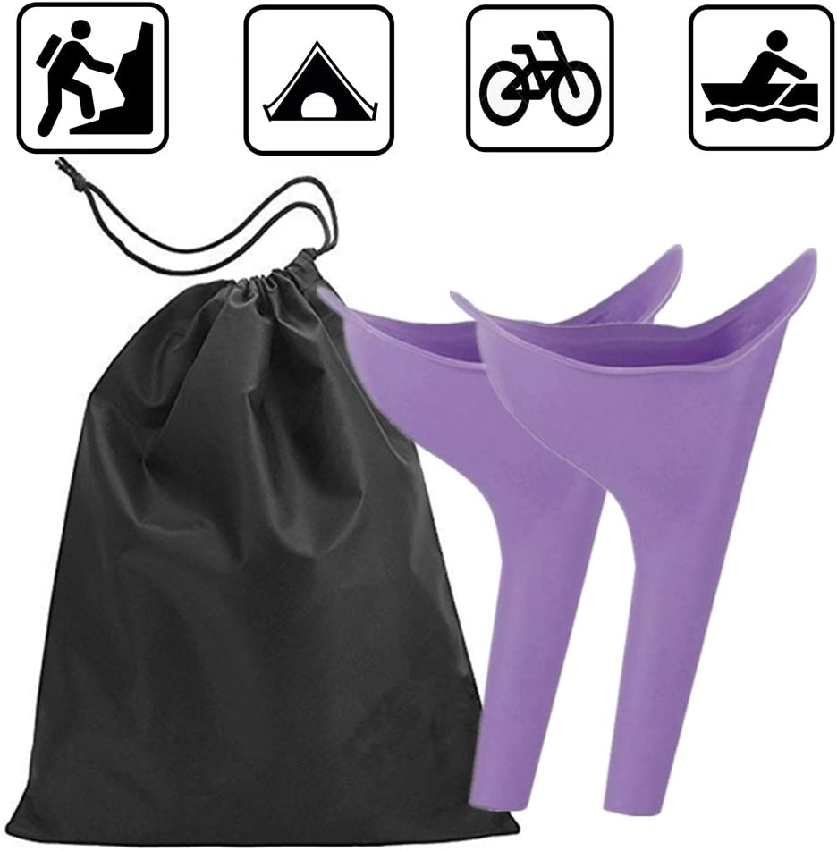 Travel Lightweight Female Urination Device - Women Portable Urinal Funnel Camping Hygiene & Sanitation Perfect Camping Traveling Climbing Festivals Outdoor Activities(2 pack with free bag) : Sports & Outdoors