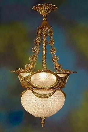 Araña de cristal para lámparas de techo de cristal real ...