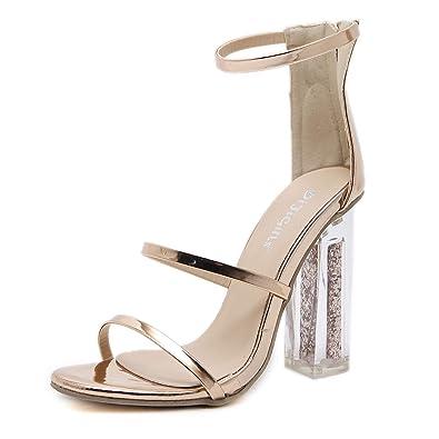 Sandale Transparent Visionreast Chaussure Haut Talon Paillette 3jL4Aq5R