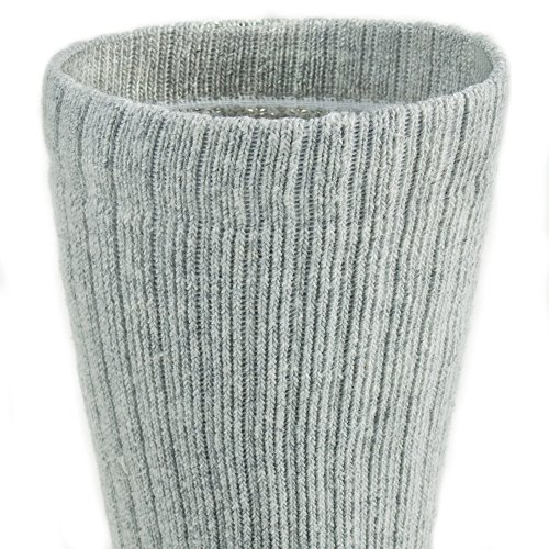 Working Person's 8766 Grey 4-Pack Steel Toe Crew Socks - Made In The USA (Large) by The Working Person's Store (Image #4)'