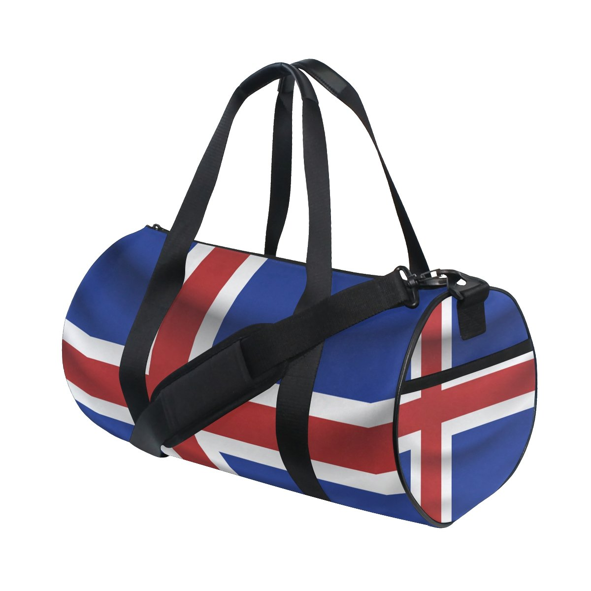 Iceland Flag Travel Duffel Shoulder Bag ,Sports Gym Fitness Bags