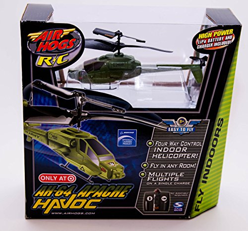 Air Hogs Radio Controlled Helicopter (Air Hogs R/C AH-64 Army Apache Havoc Heli Indoor Infrared Micro Helicopter)