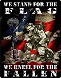 Decalrus - (4 PACK) Kneel , kneel for the fallen , Stand for the flag Vinyl Decal Skin skins Sticker for cars, travel trailers, boats, trucks, Laptop, motorcycles & Luggage - sticker-18_4X