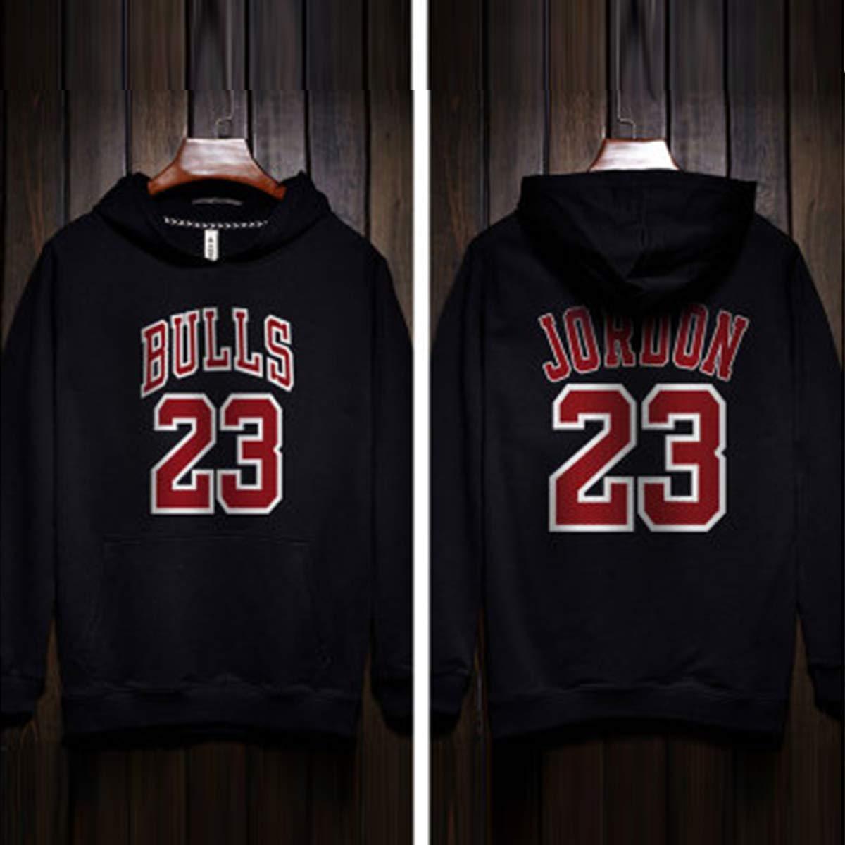 M/änner Hoodie Chicago Bulls Basketball Jersey Hoodie Mode Sweatshirt Pullover Komfortables T-Shirt Teenager Sportanz/üge Hip Hop Hoodies