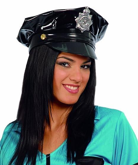 GORRA POLICIA VINILO  Amazon.es  Juguetes y juegos 73c1e1efd96