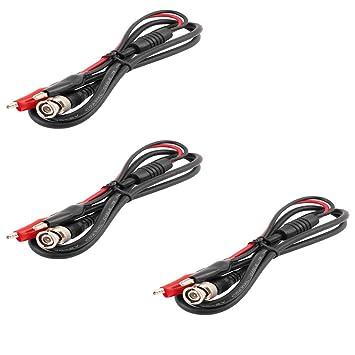 Yohii - Cable coaxial de Cobre BNC Q9 Macho a 2 Pinzas de cocodrilo, 3
