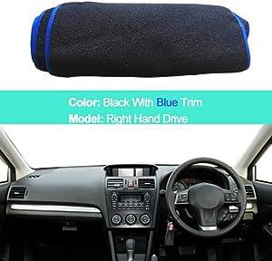 SDKLNW Car Inner Dashboard Cover Dash Mat Carpet Cushion Cape,for Subaru Impreza/XV/WRX 4th GEN 2012-2016,Forester SJ 2014-2018