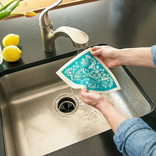 MORE JOY, Swedish Dishcloths, Scandi House, Set of 2, Gray by MORE JOY (Image #3)