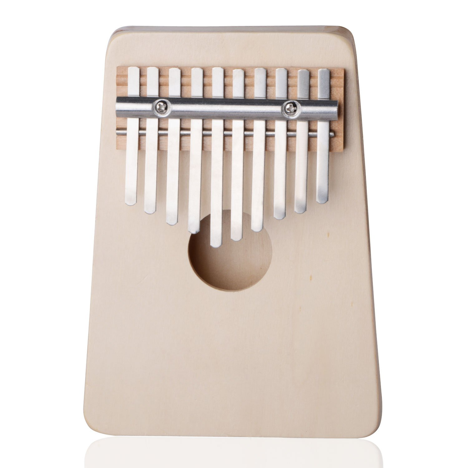 Thumb Piano,10 Key Finger Piano Kalimba Mbira Thumb Piano for Music Lover and Beginner (Spruce white)