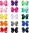 """CN Baby Girls Hair Bow Boutique 6"""" Grosgrain Ribbon Hair Bows With Alligator Clips for Teens Baby Toddler Kids Pack of 15"""