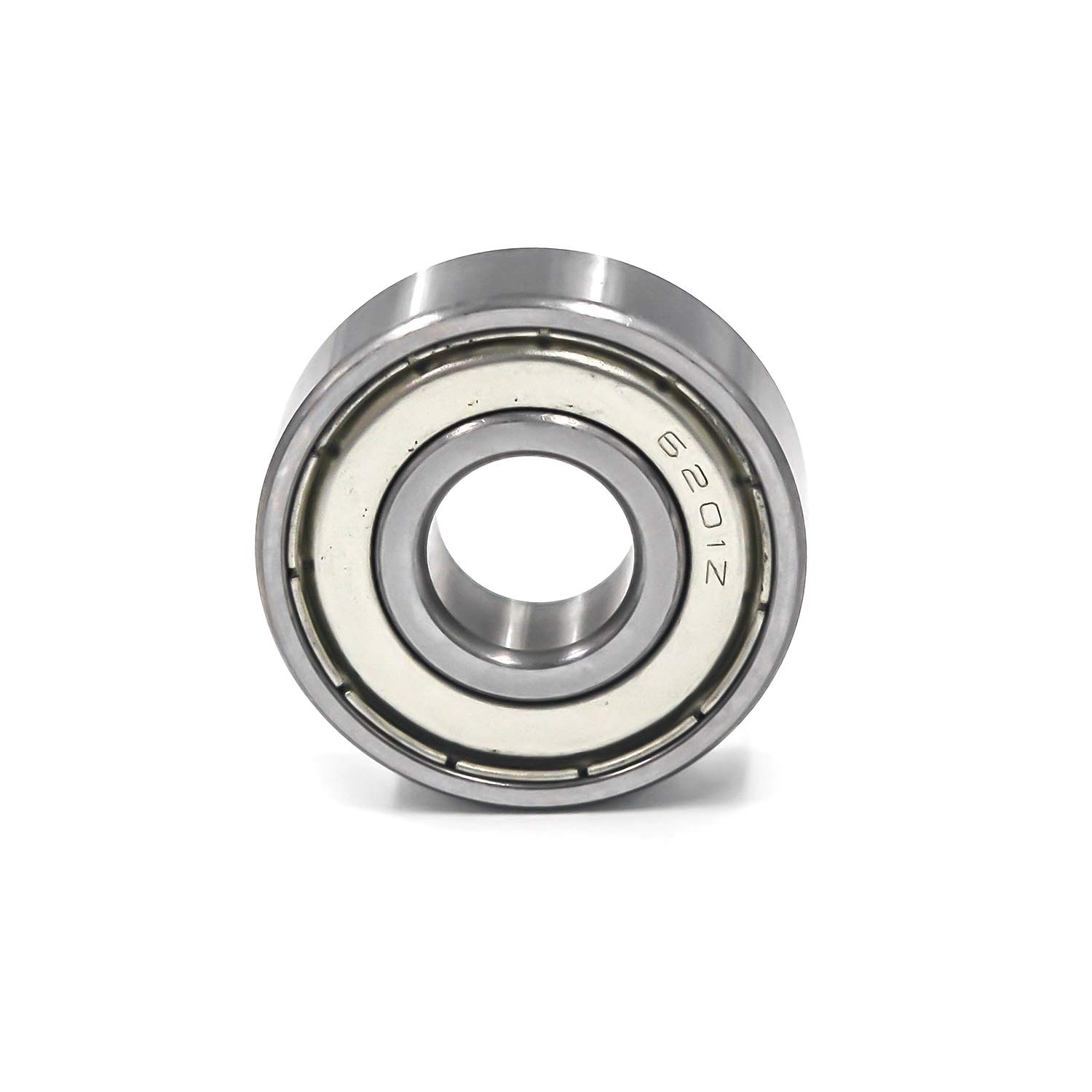 Antrader 2-Pack 12mm x 32mm x 10mm 6201Z Double Shielded Deep Groove Radial Ball Bearings