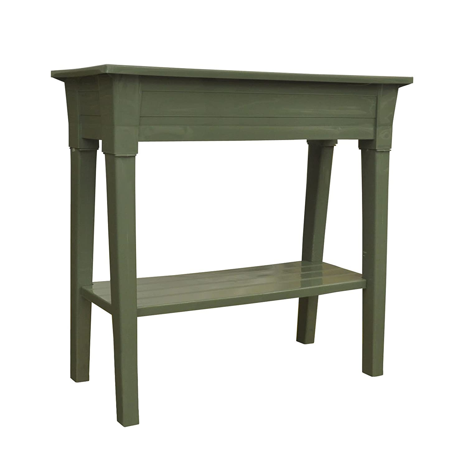 Adams Manufacturing 9303-01-3700 36-Inch Deluxe Garden Planter, Sage Green - Planters Amazon.com