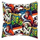 Hemet Monsters Envelope Throw Pillow Cover