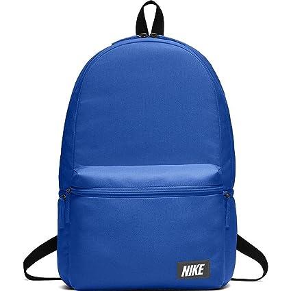 Nike Nk Heritage Bkpk-Label Mochila, Unisex Adulto, Azul/Negro / Naranja
