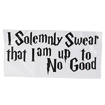 Sodialr Wall Sticker Decal Quote I Solemnly Swear Im Up To No