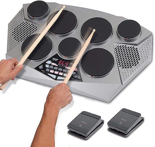 Kit de tambor electrónico-máquina portátil de tambor de mesa ...