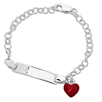 0b93db39d6904 Amazon.com: Amoro Polished 925 Sterling Silver Charm Bracelet 8 ...