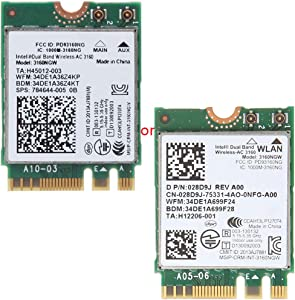 Int-EL Wireless-AC 3160 3160NGW Dual-Band Bluetooth 4.0 NGFF WiFi Card for De-ll by Ontracker