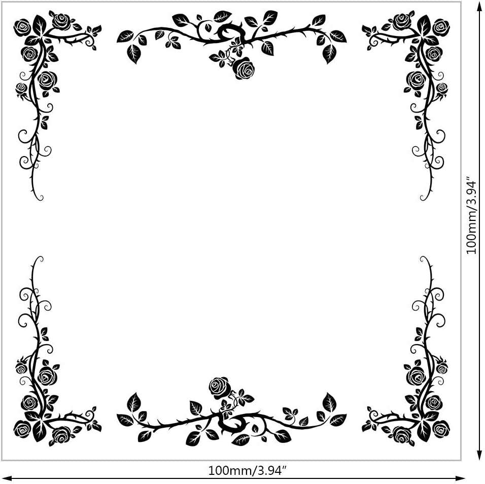 Flower Background DIY Silicone Clear Stamp Cling Seal Scrapbook Embossing Album Decor KANGneei Clear Stamp