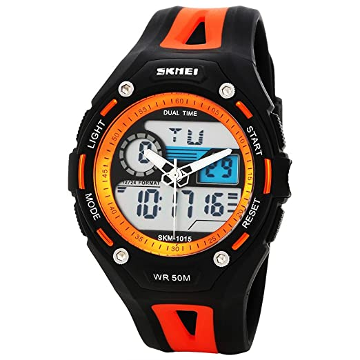 Skmei Ad1015 - Reloj digital de cuarzo analógico de 3 atm resistente al agua para hombre: Amazon.es: Relojes