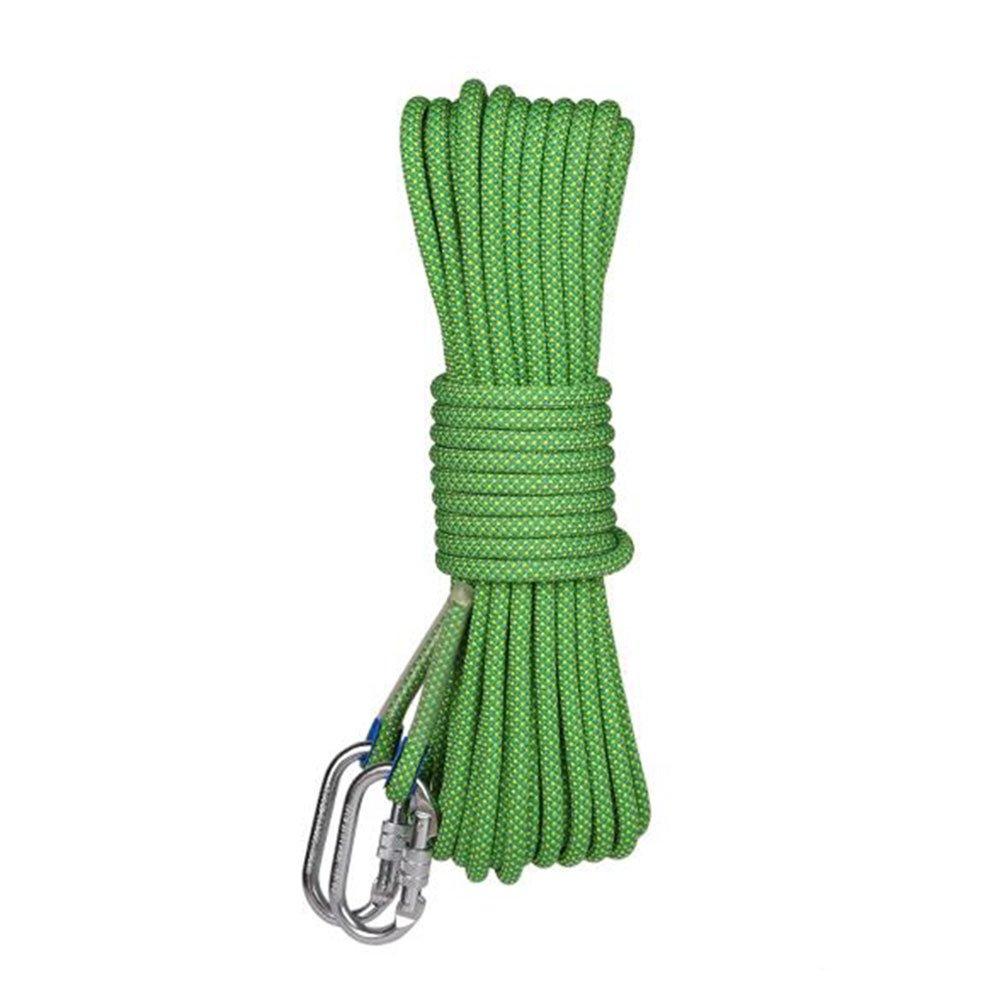 Vert ANHPI Corde Escalade De Corde Aérienne Corde InsTailletion Résistant à Usure Outil De Descente en Plein Air,jaune-10m10.5mm 10m10.5mm