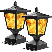 2PK BlueYang Solar Post Light,Outdoor Post Cap Light Deals