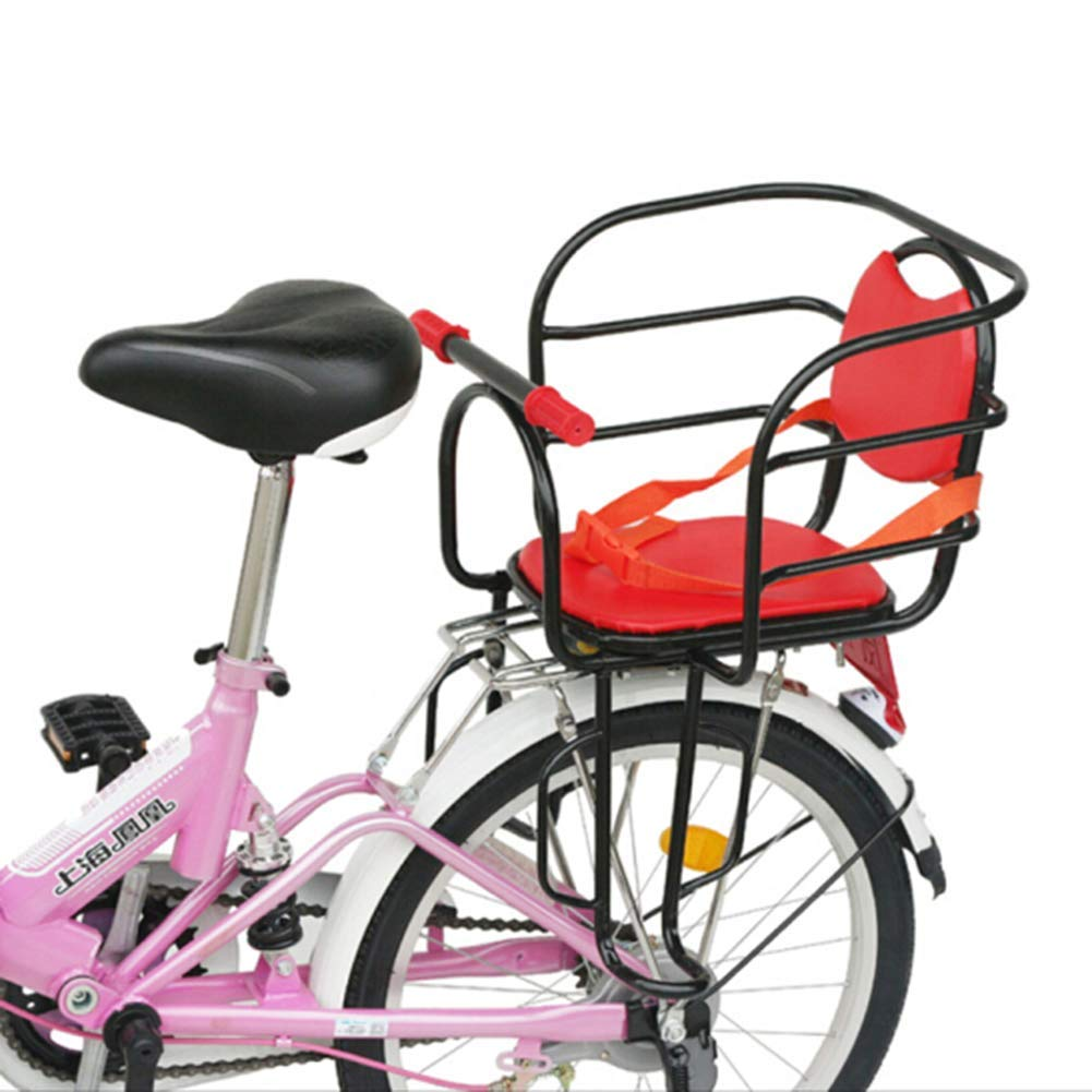 precioso YISHENGTONGBAO Bicicleta Asientos Asientos Asientos Traseros para Niños Pedal Ancho Doble Reposabrazos Asiento con Cinturón De Seguridad  ahorrar en el despacho