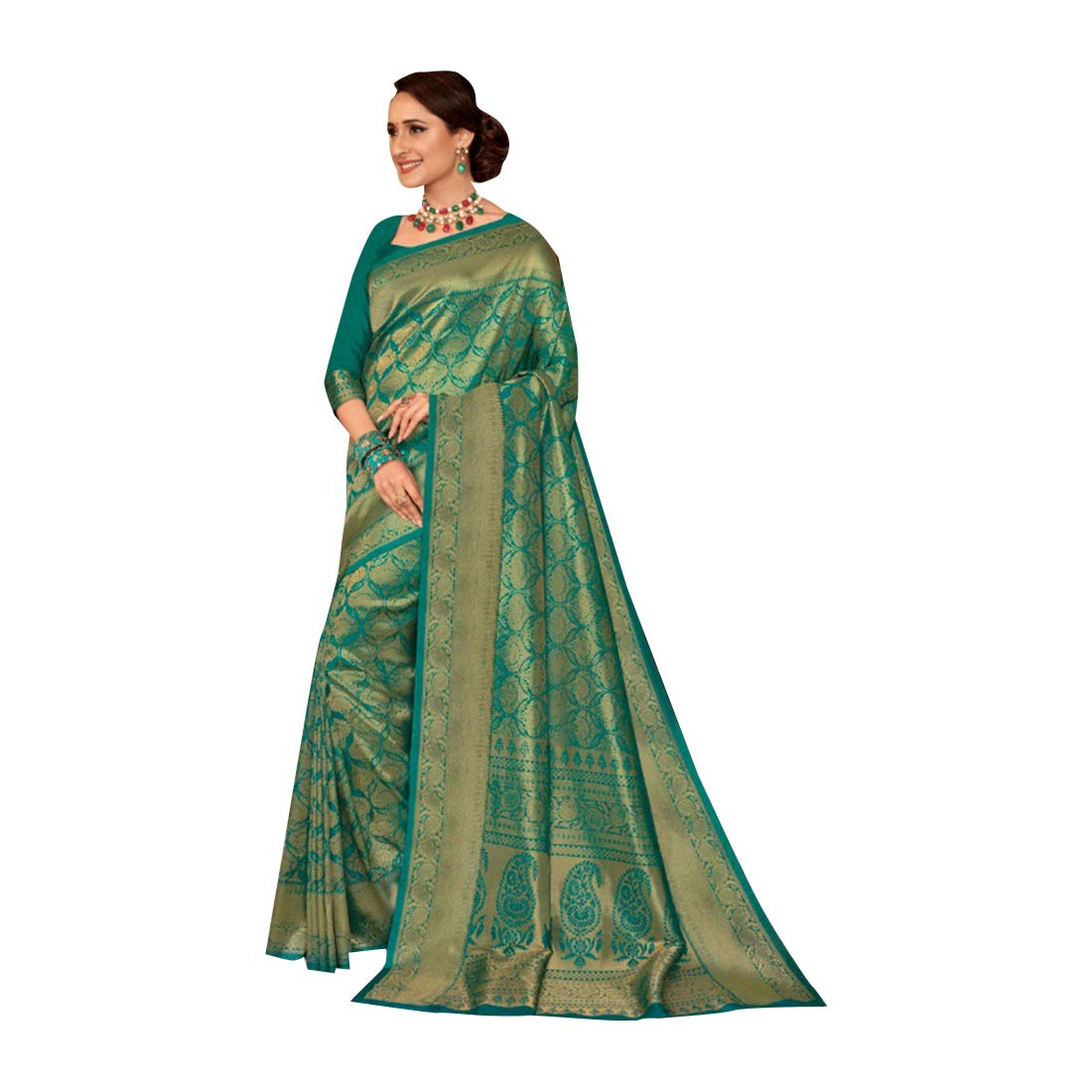 Royal Indian Traditional Festive Party wear Silk Sari for Women Saree with Blouse piece Designer collection 7918