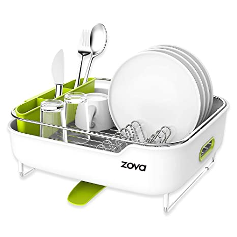 Amazon.com: zova - Escurreplatos de acero inoxidable Premium ...