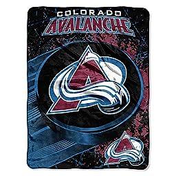The Northwest Company NHL Colorado Avalanche Ice Dash Micro Raschel Throw, 46-Inch by 60-Inch