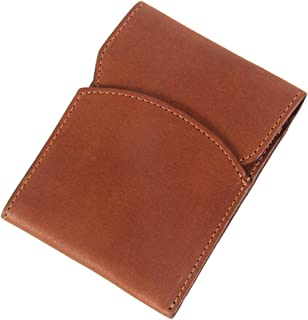 product image for Col. Littleton Genuine Leather Front Pocket Wallet with Flap | USA Made |Brown