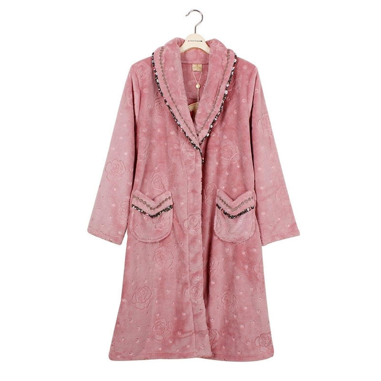 timeless design c6453 ae295 Beste Frauen Lange Robe Baumwolle Pyjama Damen Flanell ...