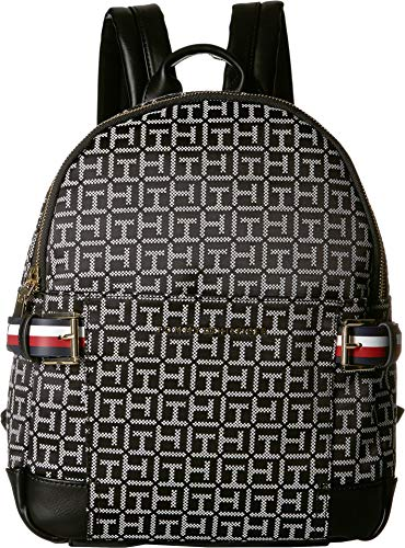Tommy Hilfiger Women's Meriden Backpack Black/White One Size