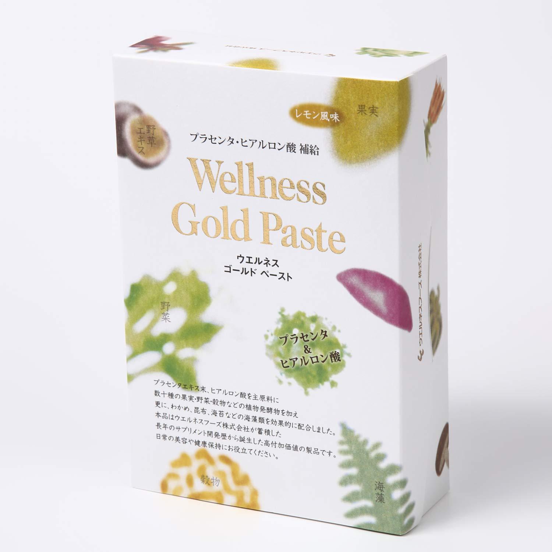ウエルネスゴールドペースト プラセンタヒアルロン酸酵素 レモン風味150g(5g×30包)/B07HYPKS91   B07HYPKS91