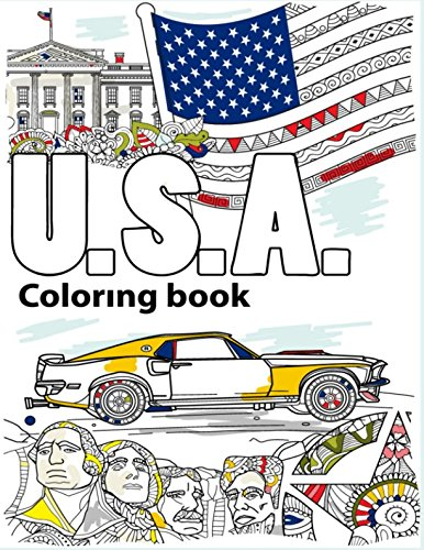 Download USA Coloring Book: Adult Colouring Fun, Stress Relief Relaxation and Escape (Color In Fun) PDF