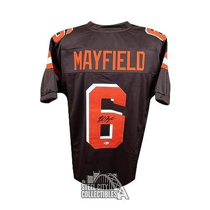 61d5ebd4b47 Baker Mayfield Autographed Jersey - Custom Brown BAS COA - Beckett  Authentication - Autographed NFL Jerseys