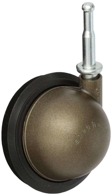 Shepherd Saturn Series 3 Diameter Rubber Wheel Swivel Ball Caster 5//16 Diameter x 1-1//2 Length Grip Neck Stem 100 lbs Capacity Windsor Antique Finish
