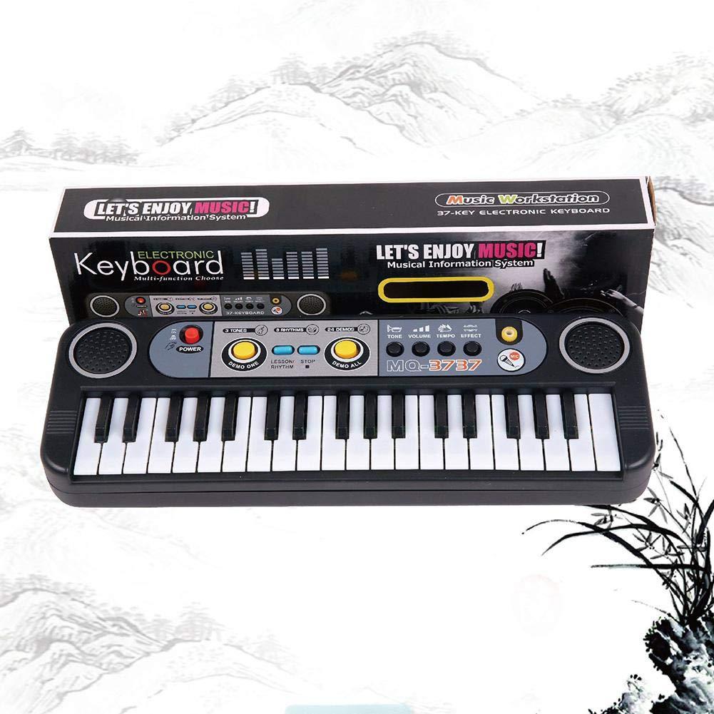 kingromargo Mini-Tastatur, 37 Tasten, Spielzeug, Mikrofon