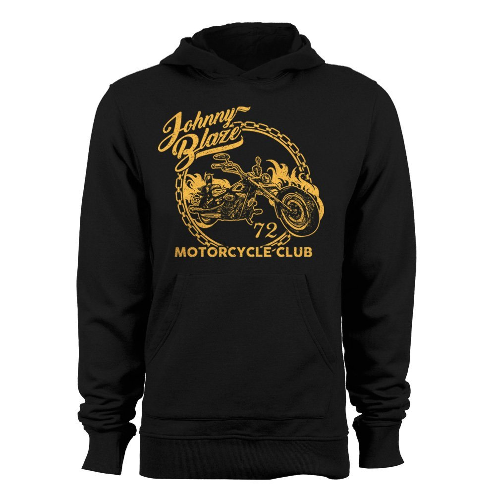 GEEK TEEZ Johnny Blaze Motorcycle Club Mens Hoodie