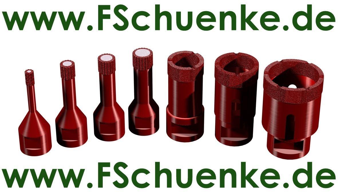 MARCRIST PROFI Trockenbohrerset PG 750X-M14 4-tlg. Ø8/26/36/44 mm ...