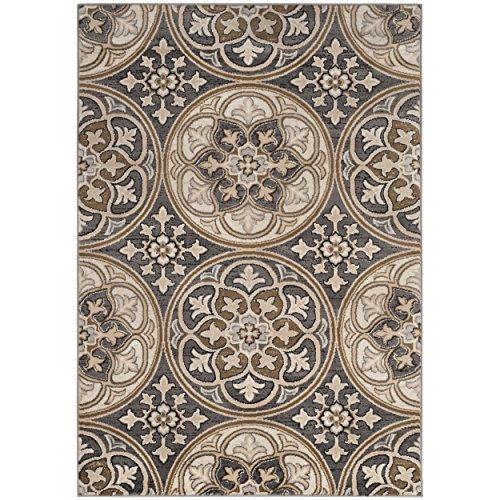(Safavieh Lyndhurst Collection LNH341B Light Grey and Beige Area Rug, 5'3
