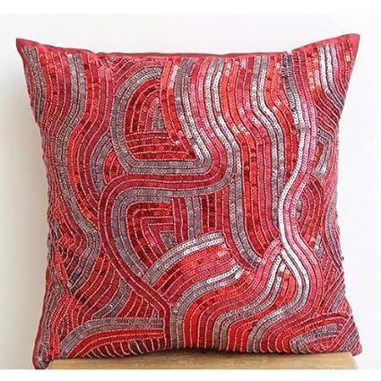 Amazon The HomeCentric Designer Red Decorative Pillows Cover Simple Red Decorative Pillows For Couch
