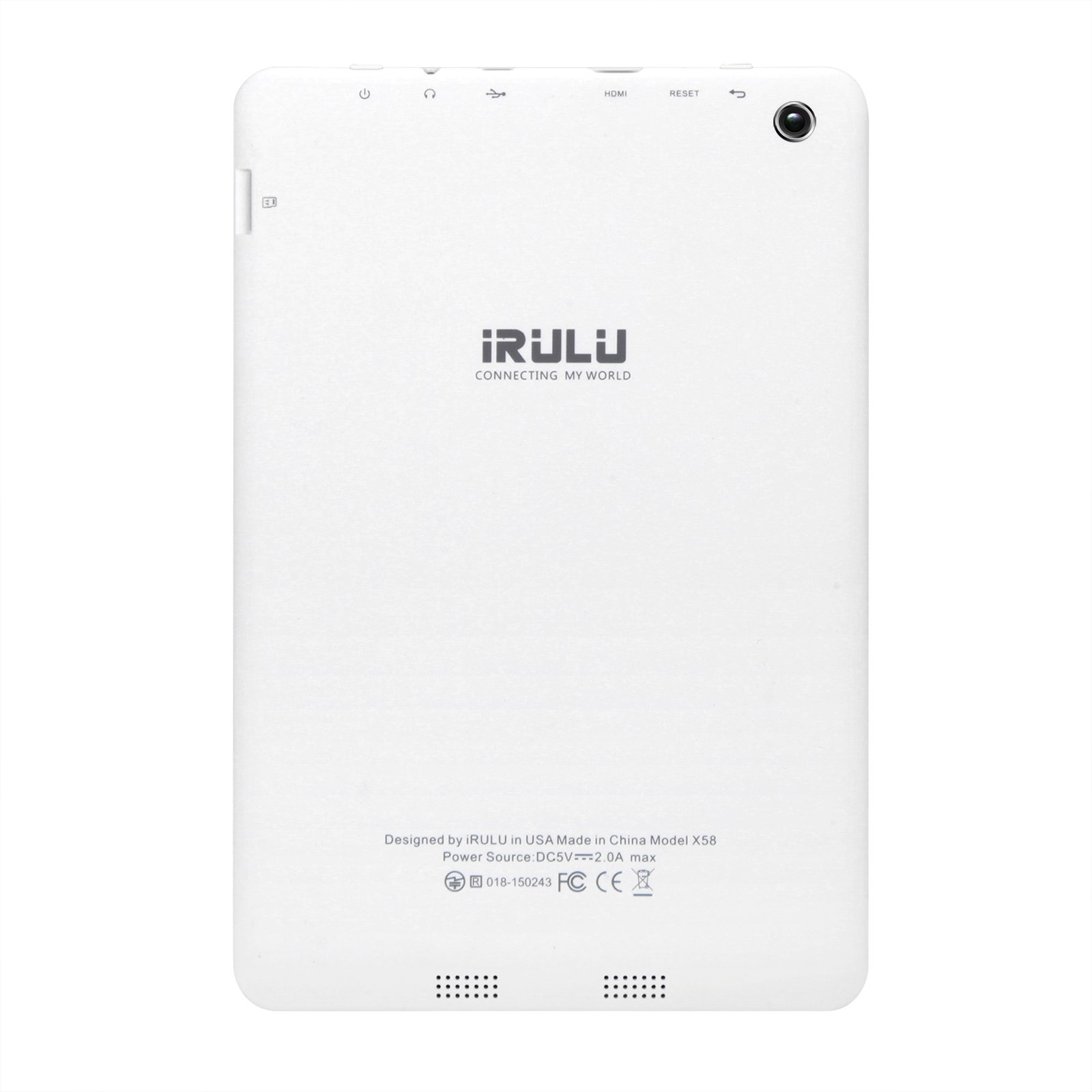 """7.85"""" Tablet Android Google 7.0, 1GB/16GB, 1.3gHz Quad Core,768x1024 IPS HD Display,Dual Camera, Microsoft Mini HDMI Bluetooth G-Sensor Supported,GMS Certified,iRULU eXpro 5 S Tablet (X5 S)-White by iRULU (Image #10)"""