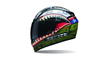 Bell Powersports Qualifier DLX Casco Moto, Devil May Care (Negro), M