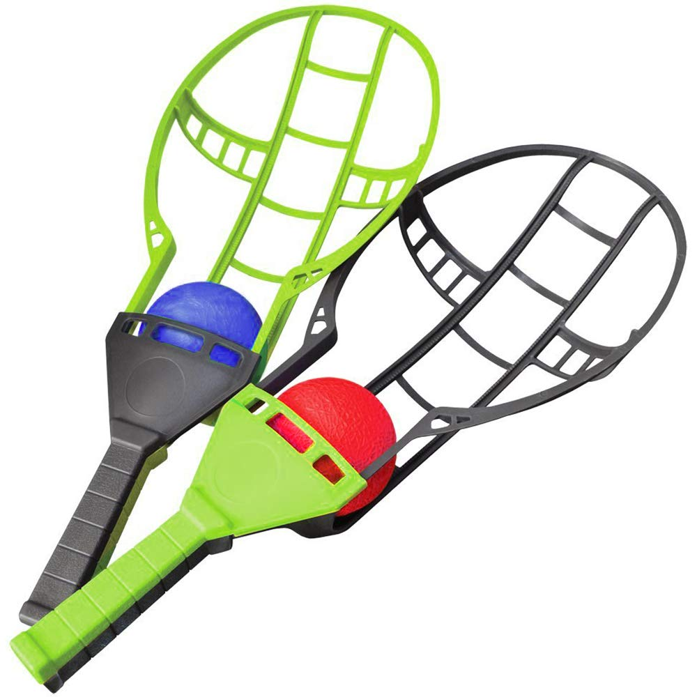 Liberty Imports Trackball Sport Chuck and Catch Ball Lacrosse Racket Toy Game (Trackball Game Set)