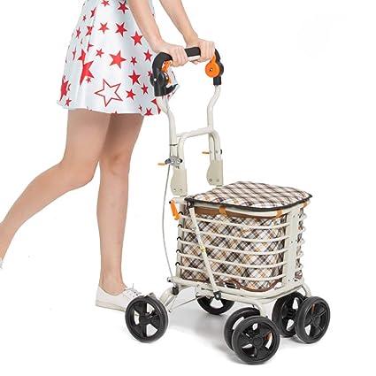 Amazon.com: ZHIli - Carrito de la compra de 4 ruedas de ...