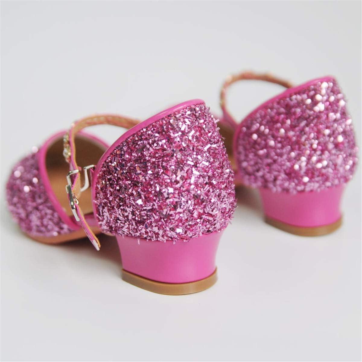 Thenxin Women Dance Shoes Latin Waltz Ballroom Dance Shoes Prom Sqeuins Rhinestone Party Pumps