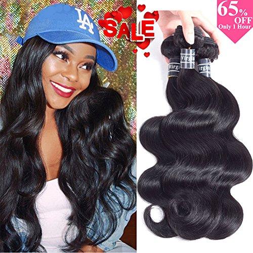 Amella Hair 10A Brazilian Virgin Body Wave Hair 3 Bundles 300g 14
